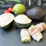 Gefüllte Avocados und Bacon-Zucchiniröllchen, das schnelle Mitbringsel zur Grilparty #rezeptidee #grillen #fingerfood